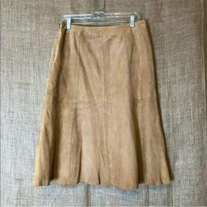 Vakko Skirts - VS2 by Vakko Womens Skirt 6 100% Goat Suede Pleats